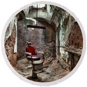 Jail Cell Barber Round Beach Towel