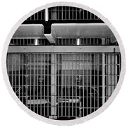 Jail Cells Round Beach Towel