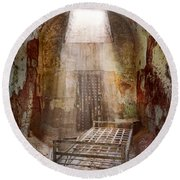 Jail - Eastern State Penitentiary - 50 Years To Life Round Beach Towel