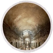 Jail - Eastern State Penitentiary - End Of A Journey Round Beach Towel