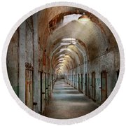 Jail - Eastern State Penitentiary - Endless Torment Round Beach Towel