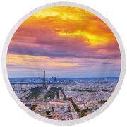 J'aime Paris Round Beach Towel