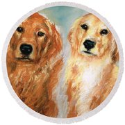 Henry And Jakie Round Beach Towel