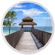 Jamaican Paradise Round Beach Towel