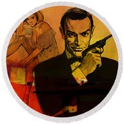 James Bond Round Beach Towel