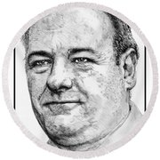 James Gandolfini In 2007 Round Beach Towel