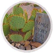 James Hickey Shot  Round Beach Towel