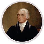 James Madison Round Beach Towel