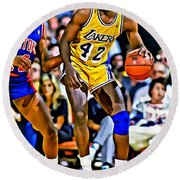 James Worthy Round Beach Towel