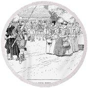 Jamestown Women, 1621 Round Beach Towel