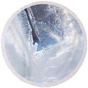 Jammer Abstract Schism 001 Round Beach Towel