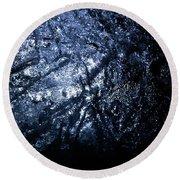 Jammer Blue Hematite 001 Round Beach Towel