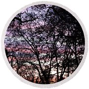 Jammer Cotton Candy Trees Round Beach Towel