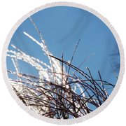 Jammer Crystal Fronds 001 Round Beach Towel
