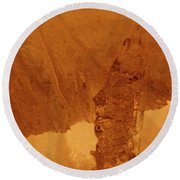jammer Fire and Ice 001 Round Beach Towel