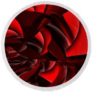 Jammer Rose 005 Round Beach Towel