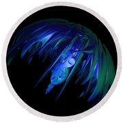 jammer Space Jelly  Round Beach Towel