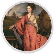 Jane Fleming, Later Countess Round Beach Towel