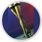 Jane Legs 1-1 Round Beach Towel