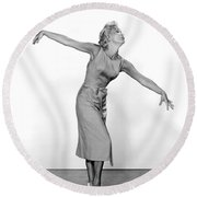 Jane Powell Round Beach Towel