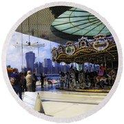 Jane's Carousel 2 In Dumbo - Brooklyn Round Beach Towel
