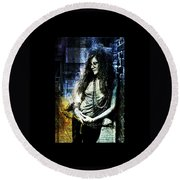 Janis Joplin - Blue Round Beach Towel