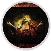 Janis Joplin - Gypsy Round Beach Towel