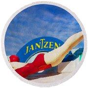 Jantzen Diver Round Beach Towel