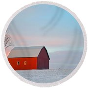 January Barn Round Beach Towel