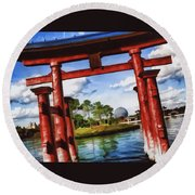 Japan Round Beach Towel