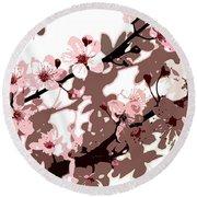 Japanese Blossom Round Beach Towel by Sarah OToole