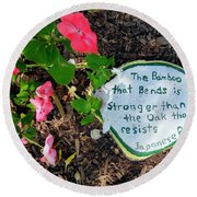 Japanese Proverb Round Beach Towel