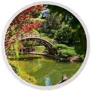 Japanese Spring - The Japanese Garden Of The Huntington Library. Round Beach Towel