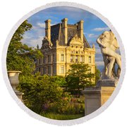 Jardin Des Tuileries Round Beach Towel