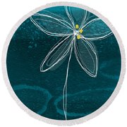 Jasmine Flower Round Beach Towel by Linda Woods