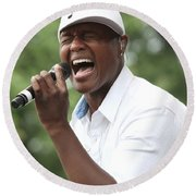 Javier Colon Round Beach Towel