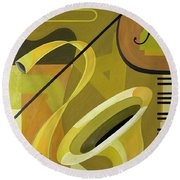 Jazz Round Beach Towel