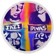 Jazz Divas  Round Beach Towel