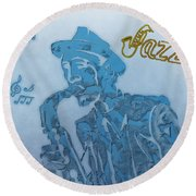 Jazz Saxophone Round Beach Towel