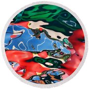 Jbp Reflections Round Beach Towel