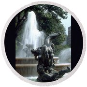 J.c.nichols Fountain 1 Kc.mo Round Beach Towel