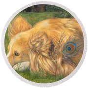 Jealous Jessie Round Beach Towel by Emily Hunt and William Holman Hunt