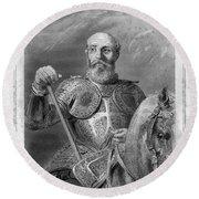 Jean Parisot De La Valette (1494-1568) Round Beach Towel