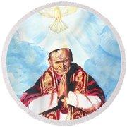 Jean Paul II Round Beach Towel