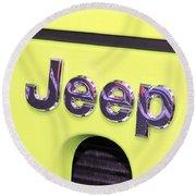 Jeep Logo Round Beach Towel