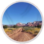 Jeep Trail Round Beach Towel