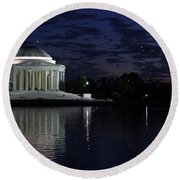 Jefferson At Dusk0253 Round Beach Towel
