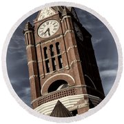Jefferson County Courthouse Clock Tower Round Beach Towel