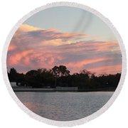 Jefferson Landscape0201 Round Beach Towel
