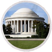 Jefferson Memorial Round Beach Towel